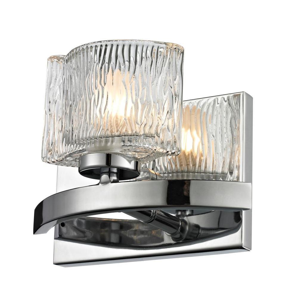 Filament Design Rainfall 1-Light Chrome Bath Vanity Light