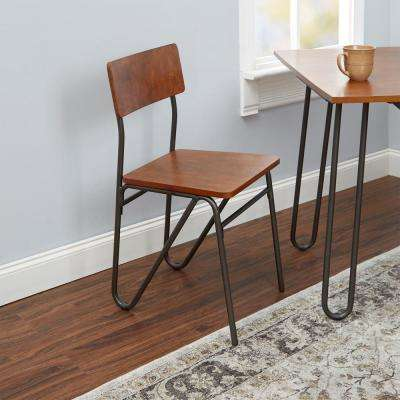 Henry Cherry Wooden Hairpin Leg Dining Chair