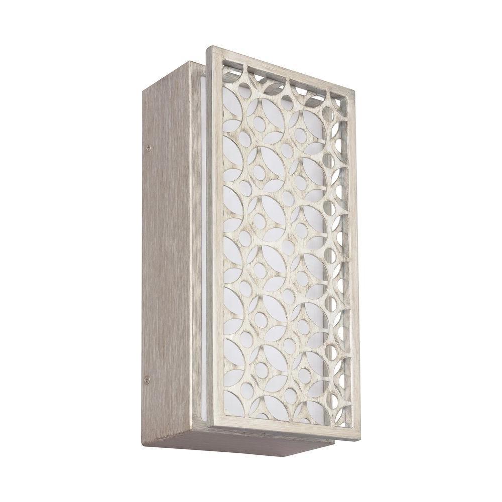 Kenney 2-Light Sunrise Silver Wall Bath Fixture
