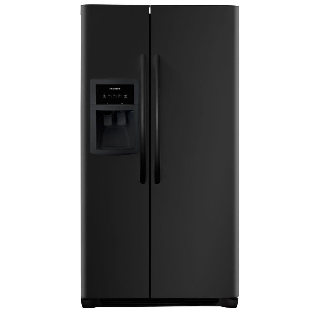 Frigidaire 25.5 cu. ft. Side by Side Refrigerator in Black