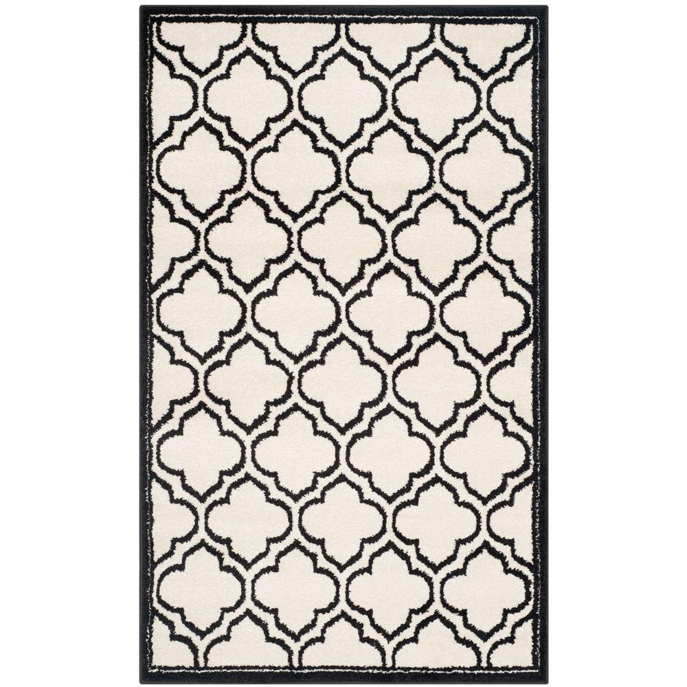 Amherst Ivory/Anthracite 3 ft. x 5 ft. Indoor/Outdoor Area Rug