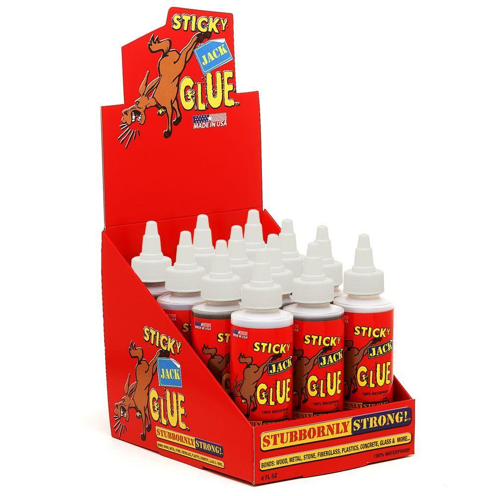 Sticky Jack Multi-Pack - 12 Bottles of Glue in Display Case by Sticky Jack