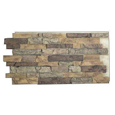 Snodonia Faux Stone Panel 1-1/4 in. x 48 in. x 24 in. Bluff Polyurethane Interlocking Panel