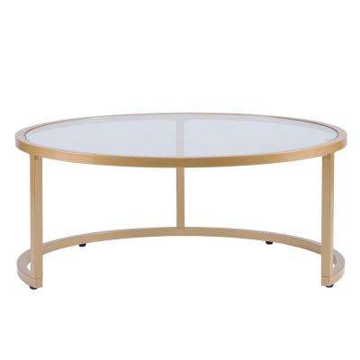 Narita Gold Glam Nesting Cocktail Table