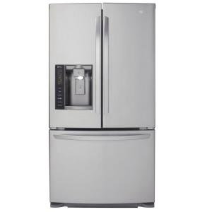 with appliances freezer refrigerator refrigerators exterior door ice and bottom lg french cu water ft