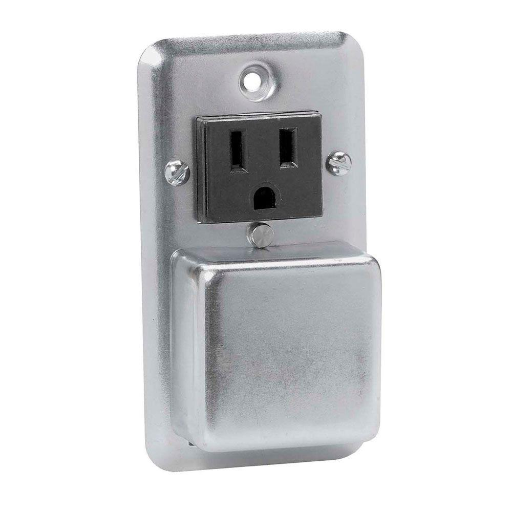 Cooper Bussmann Plug Fuse Holder with Outlet Box Cover Unit