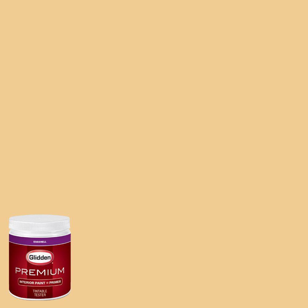 Glidden Premium 8 Oz Hdgy07u Soft Gold Eggshell Interior Paint With Primer Tester Hdgy07up