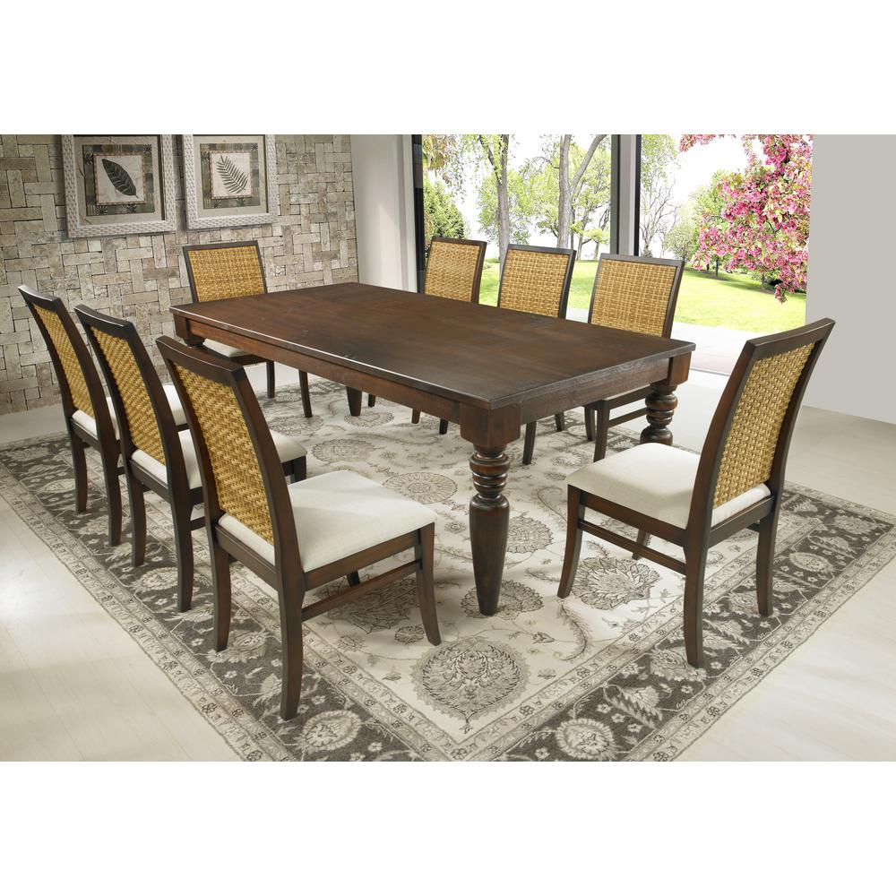 Marvelous Cinnamon Turning Legs Dining Table
