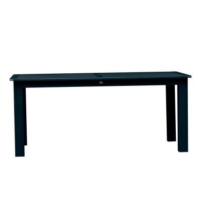 Federal Blue Rectangular Plastic Outdoor Dining Table