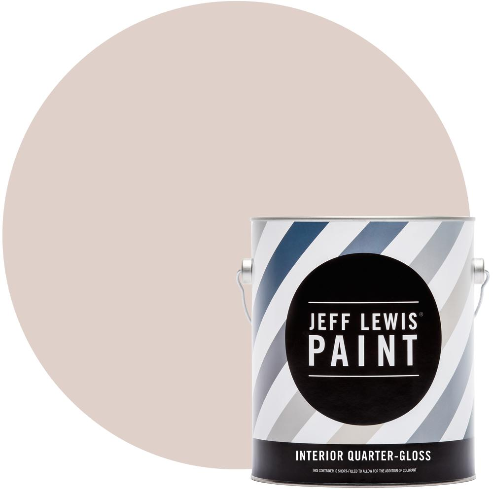 Jeff Lewis 1 gal. #713 Tickle Me Pink Quarter-Gloss Interior Paint