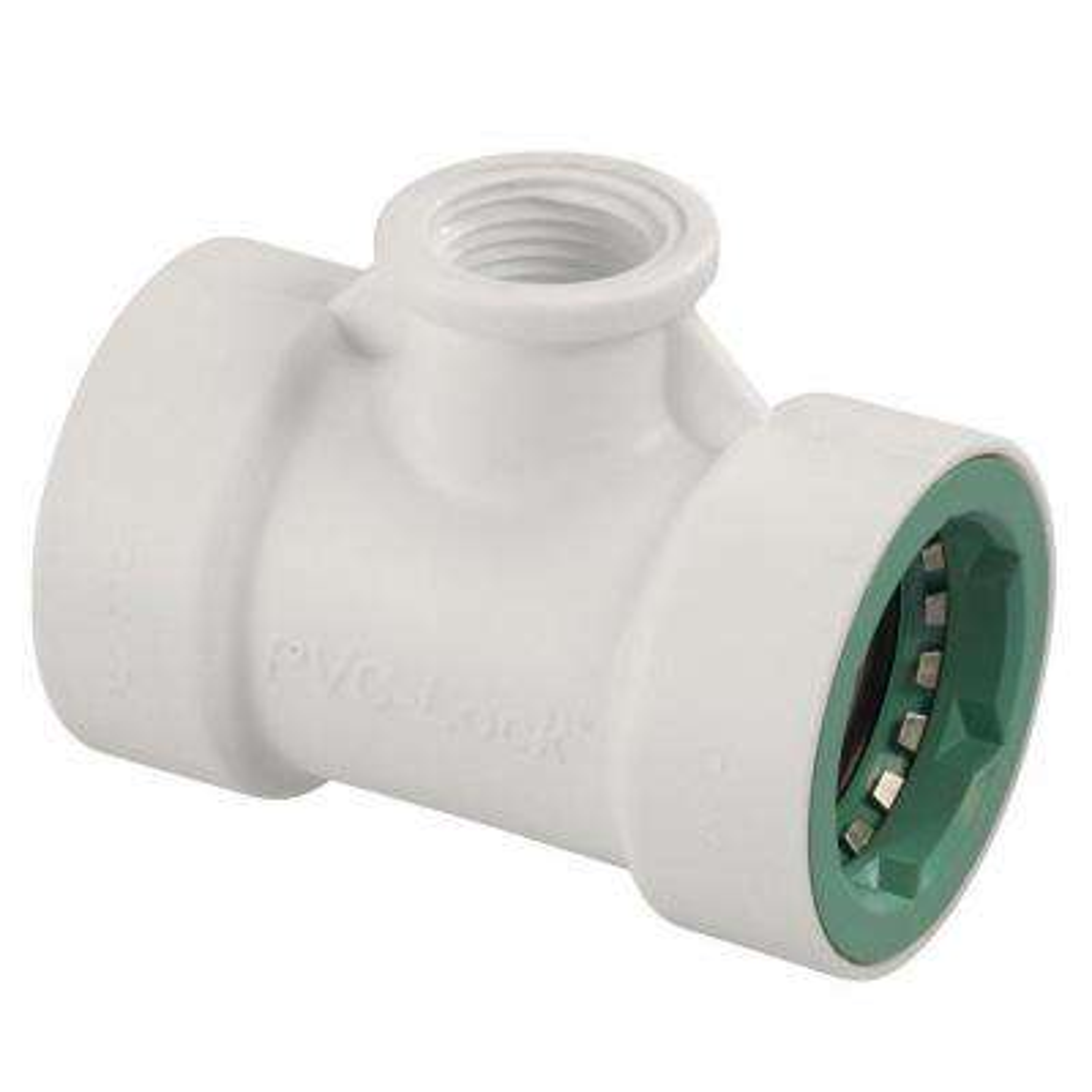 1 in. x 1/2 in. FPT PVC-Lock Tee