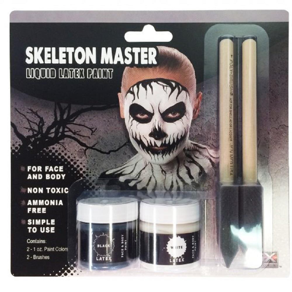 Latex Make-Up Kit - Skeleton