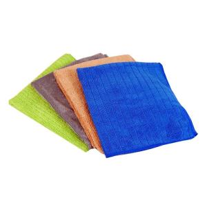 Household Surface Microfiber Cleaning Cloths (4-Pack)