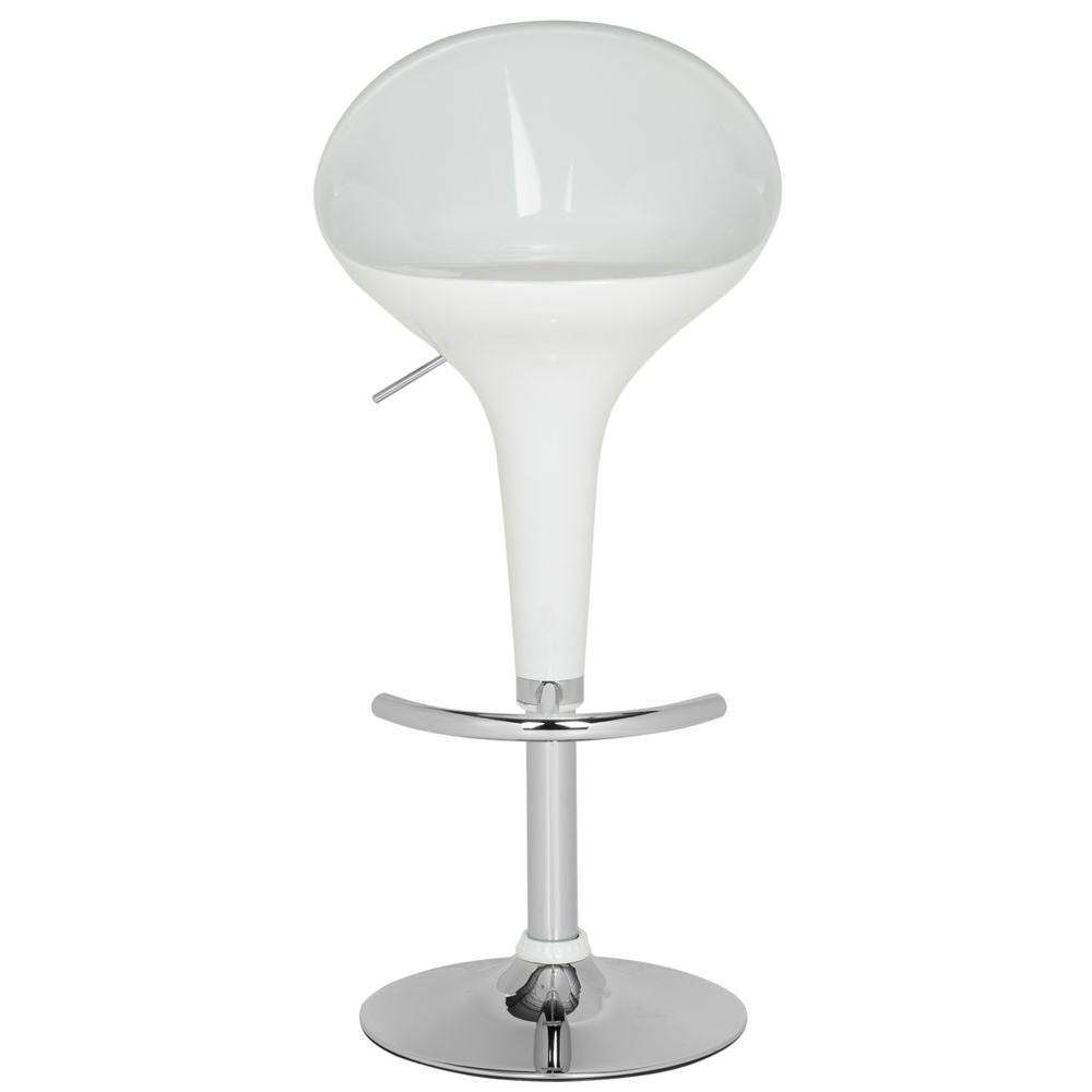 Zorab Adjule Height White Bar Stool