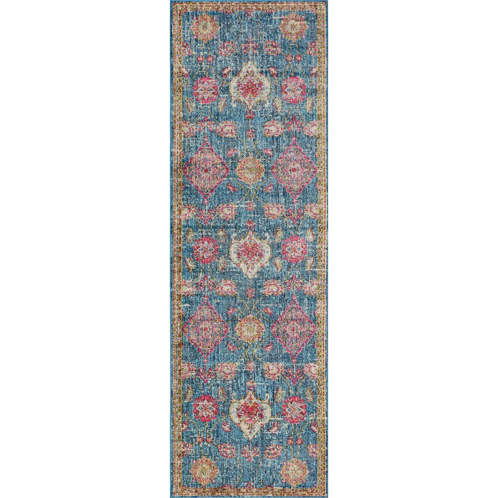 Kas Rugs Dreamweaver 5852 Blue Layla 3 Ft X 8 Runner