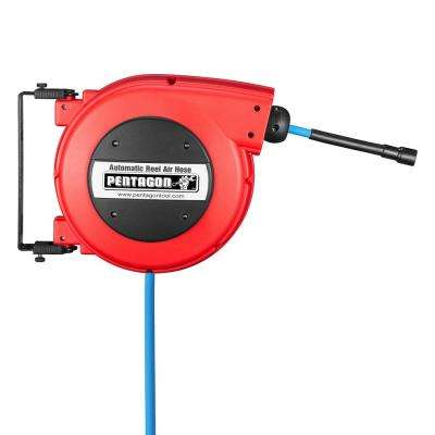 32 ft. Retractable Hose Reel, Red