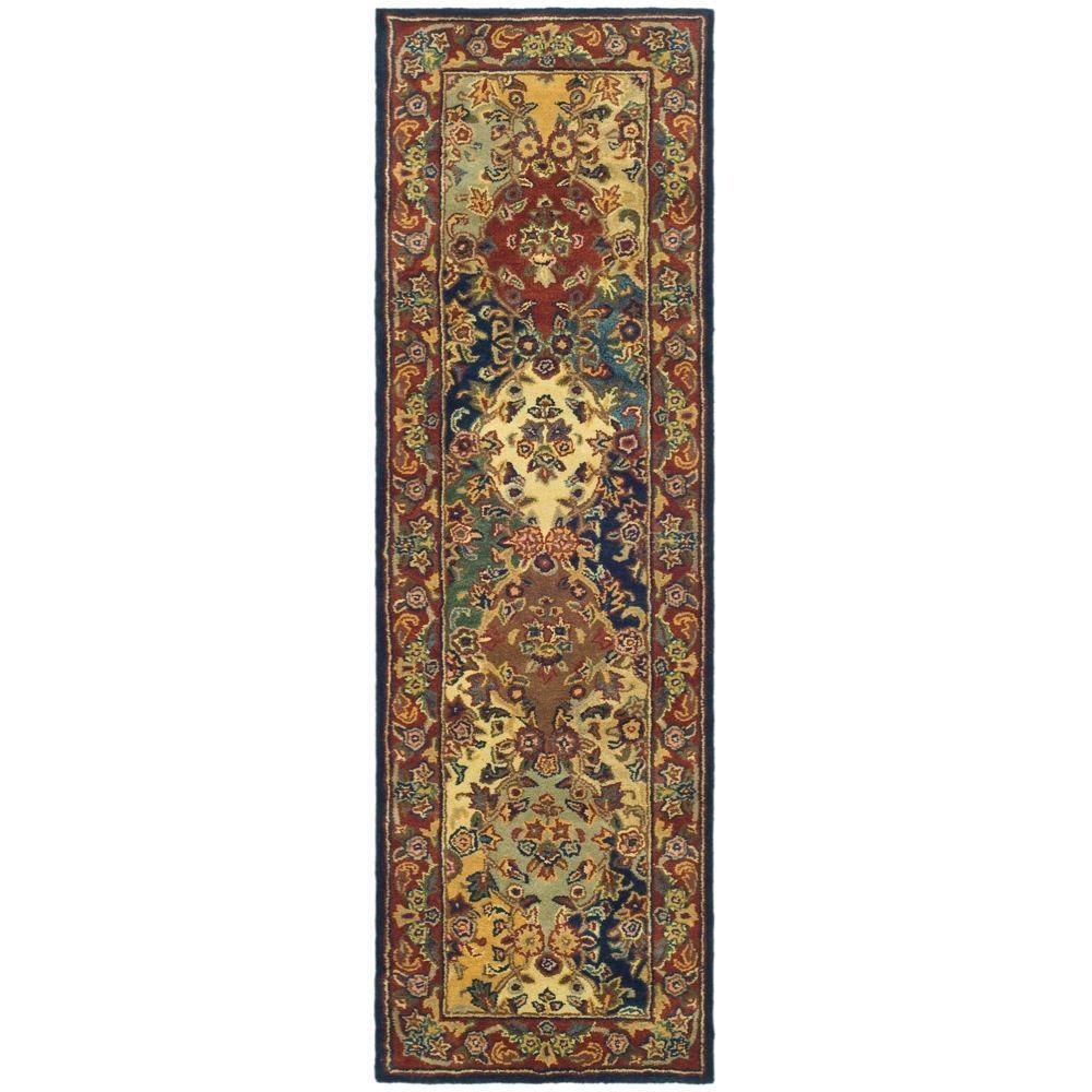 Safavieh Heritage Multi/Burgundy 2 ft. x 10 ft. Runner Rug