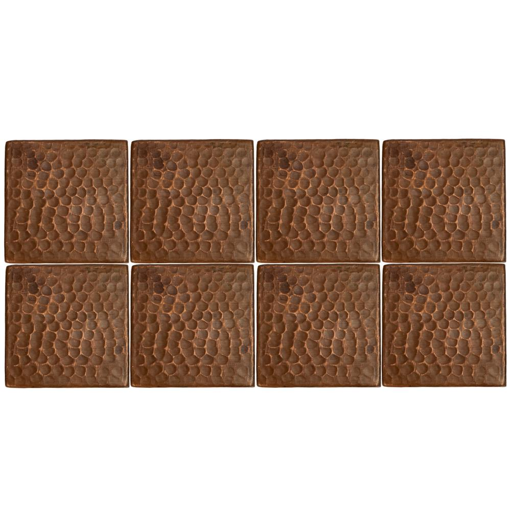 Punded Metal Accent Wall: Premier Copper Products 3 In. X 3 In. Hammered Copper