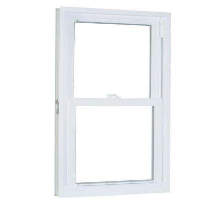 35.75 in. x 37.25 in. 70 Series Pro Double Hung White Vinyl Window with Buck Frame