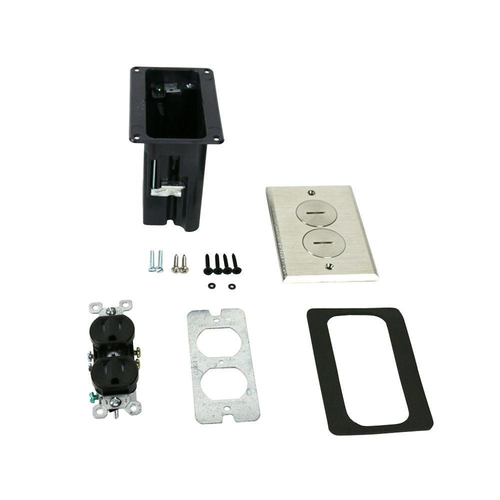30296bc2d3b Legrand Wiremold WMFB Series Single-Gang Rectangular Floor Box with ...