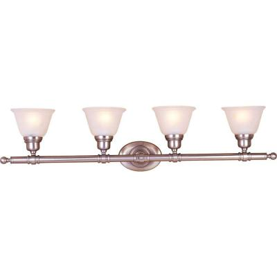 Essentials 4-Light Satin Nickel Bath Vanity Light