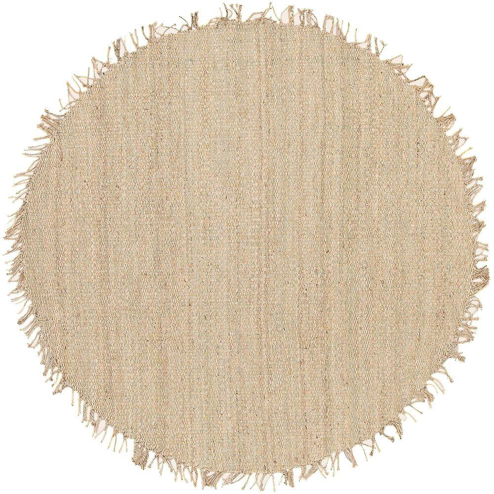 Artistic Weavers Wisner Bleach Jute 8 Ft. X 8 Ft. Round Area Rug