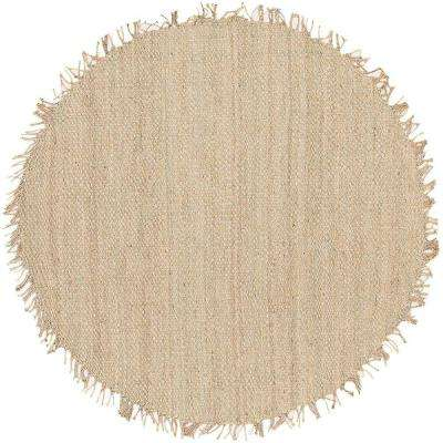 Wisner Bleach Jute 8 ft. x 8 ft. Round Area Rug