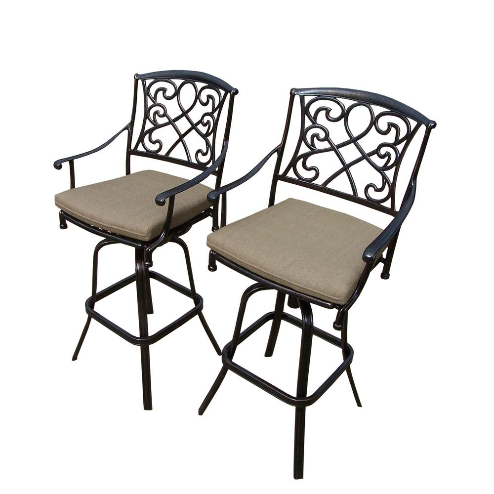 Enjoyable Outdoor Bar Stools Outdoor Bar Furniture The Home Depot Squirreltailoven Fun Painted Chair Ideas Images Squirreltailovenorg