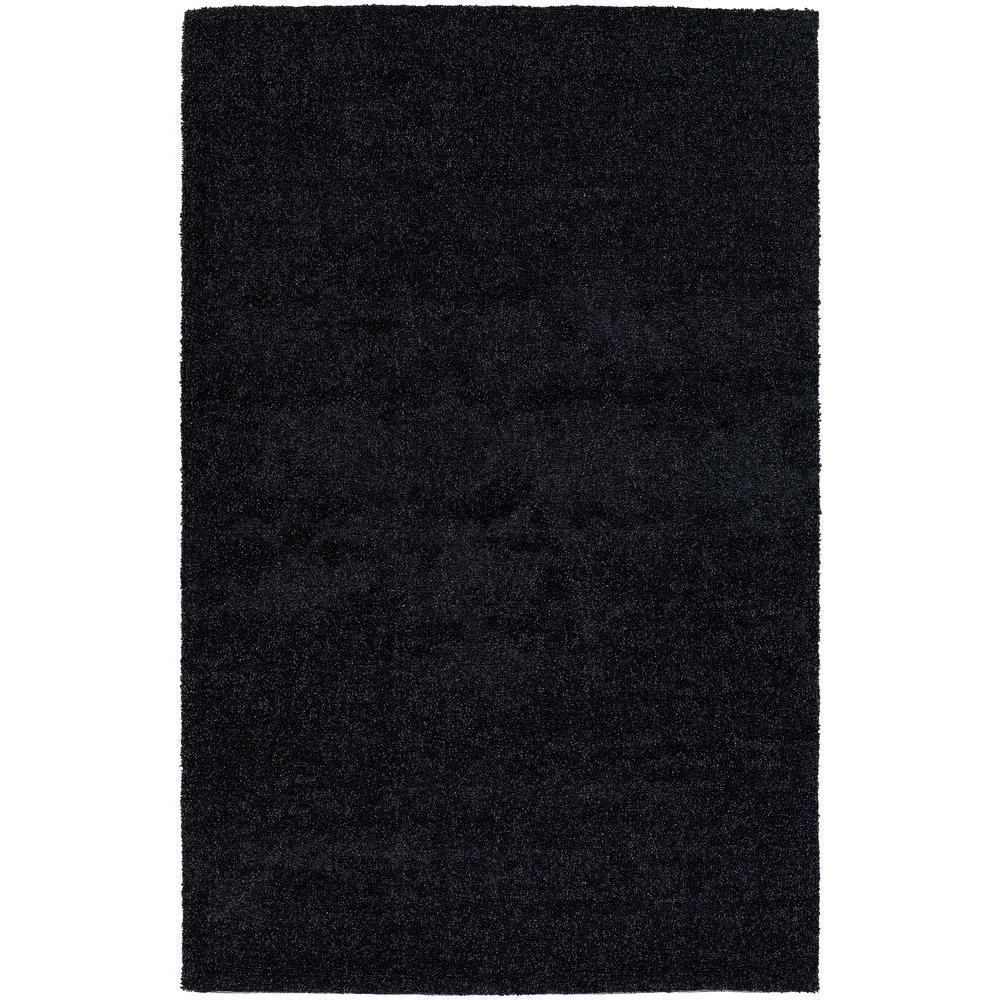 Mebec Black 7 ft. 9 in. x 10 ft. 6 in. Indoor Area Rug