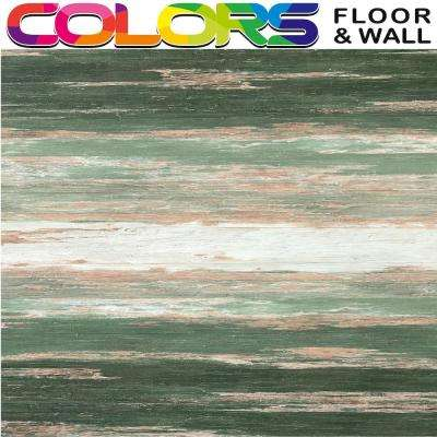 Take Home SampleCOLORS Vintage Flooring Old Green Tree Aged Painted Restored Wood Style Luxury Vinyl Plank 6 in.x 6 in.
