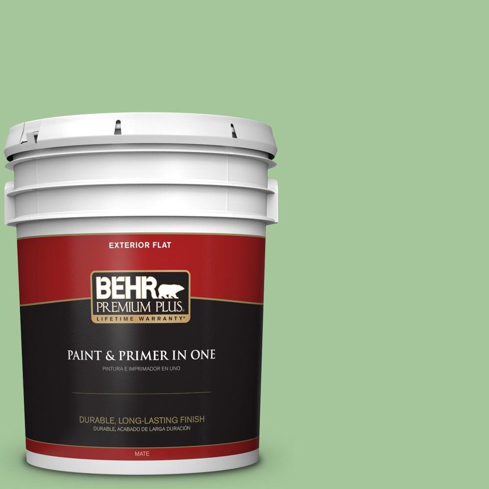 BEHR Premium Plus 5-gal. #M390-4 Gingko Flat Exterior Paint