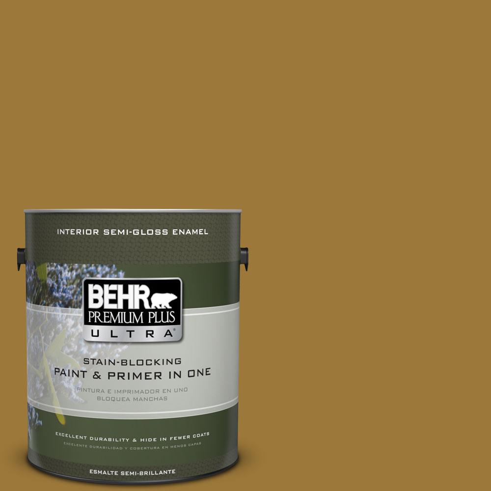1-gal. #M300-7 Persian Gold Semi-Gloss Enamel Interior Paint