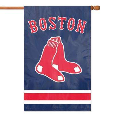 Boston Red Sox Applique Banner Flag