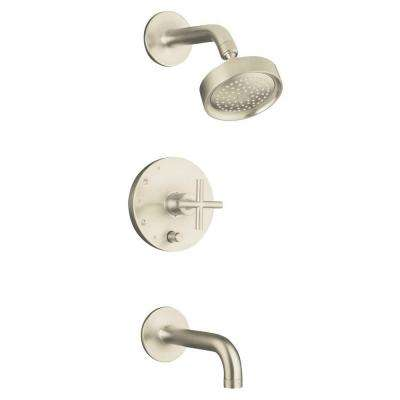 Purist 1-Handle Single-Spray Tub and Shower Faucet Trim in Vibrant Brushed Nickel (Valve Not Included)