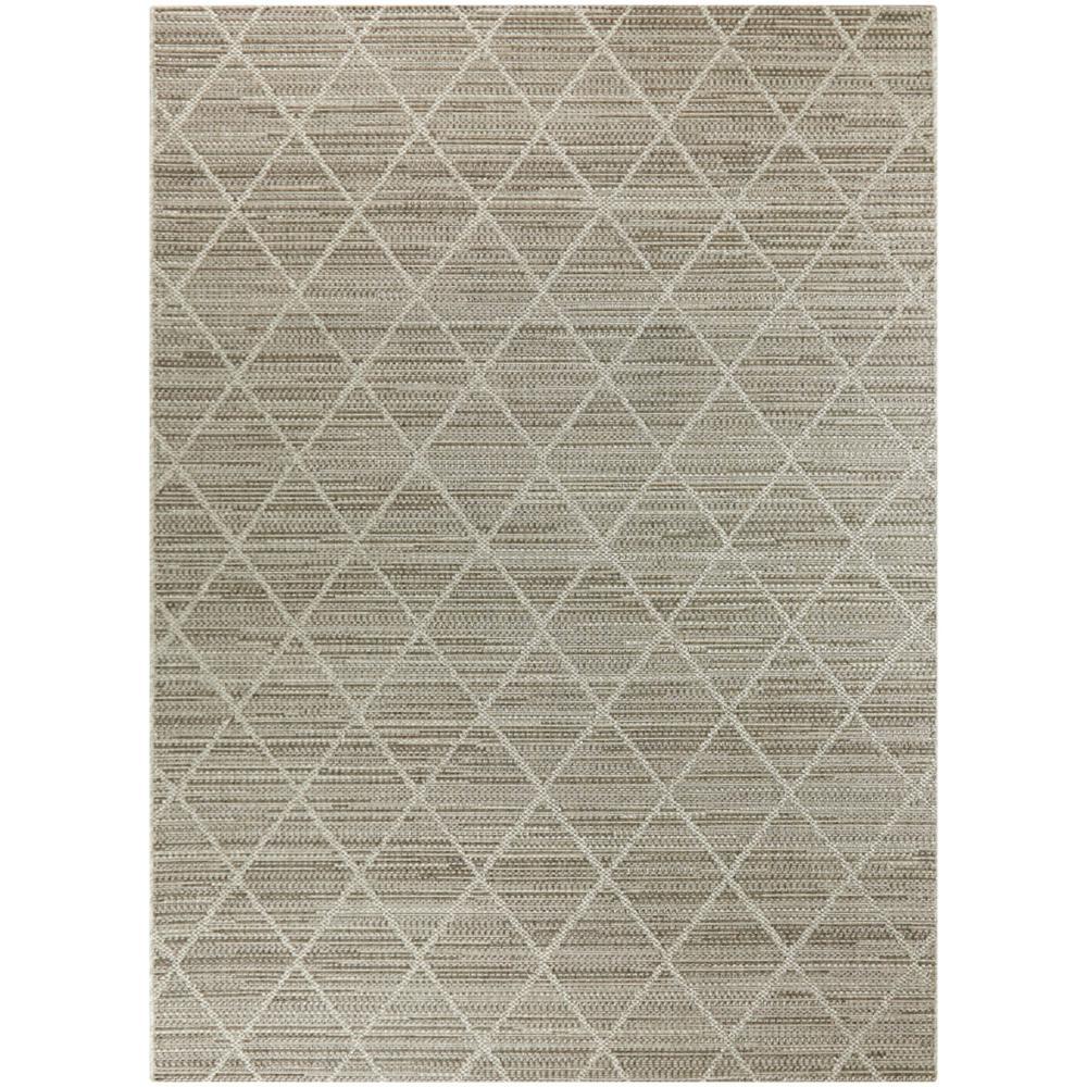 Woven Diamond Gray 8 ft. x 10 ft. Trellis Indoor/Outdoor Area Rug