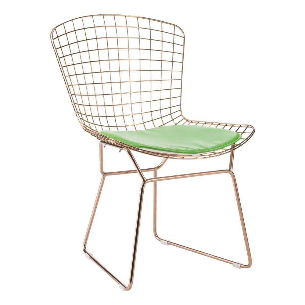 Zuo green mesh wire outdoor chair cushion 188008 the home depot