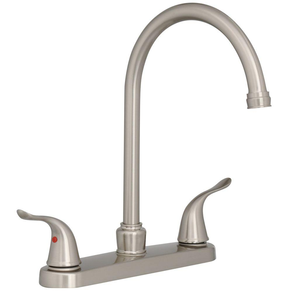 Ez Flo Impressions Collection 2 Handle Standard Kitchen Faucet With