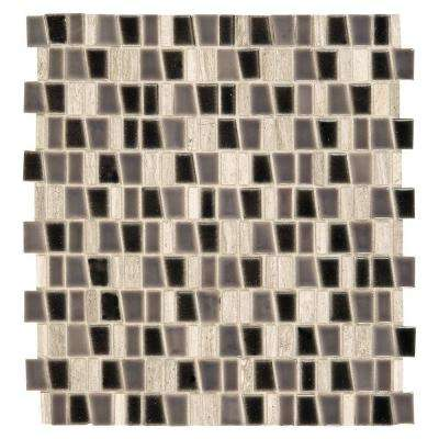 Studio Life Wall Street 12 in. x 12 in. x 8 mm Porcelain and Stone Mosaic Tile