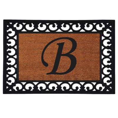 Monogram Insert Door Mat 19 in. x 25 in. (Letter B)