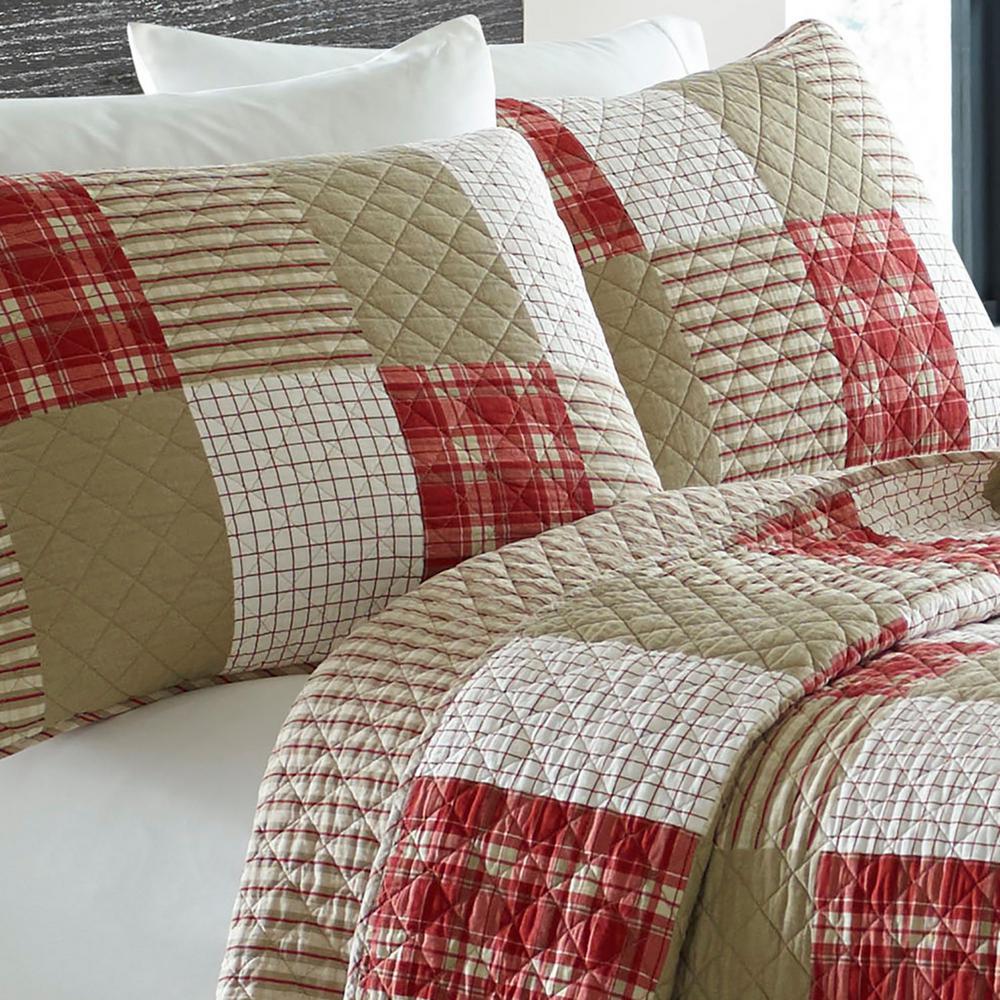 Camano Island Plaid Cotton Quilt Set