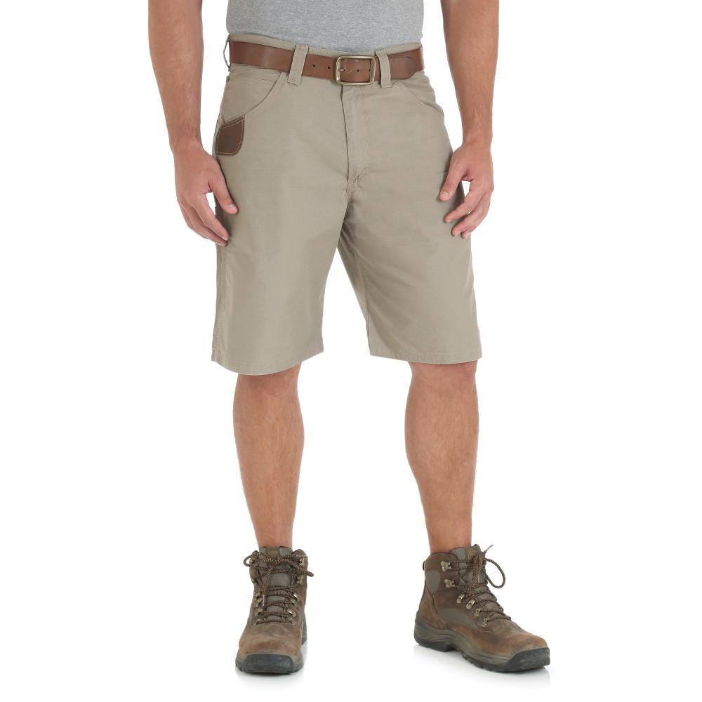 Men's Size 36 in. x 23 in. Dark Khaki Technician Short