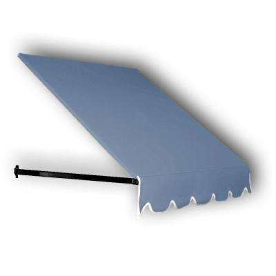 35 ft. Dallas Retro Window/Entry Awning (24 in. H x 48 in. D) in Dusty Blue