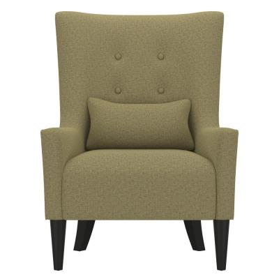 Venecia Apple Green Tweed Shelter High Back Wing Chair