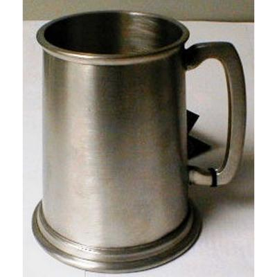 Tankard with Metal Bottom