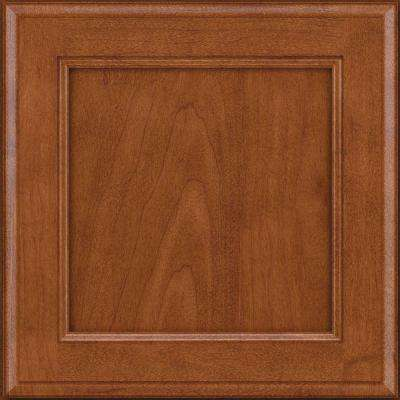 15x15 in. Cabinet Door Sample in Northwood Maple Square in Chestnut