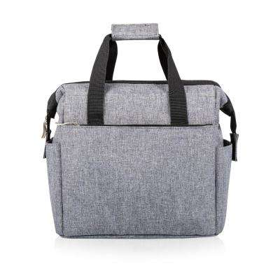 On The Go Heathered Gray Lunch Bag