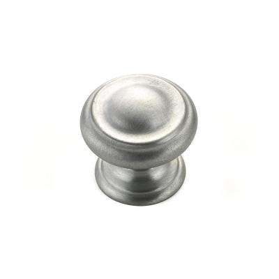Contemporary and Modern 1-3/16 in. Brushed Chrome Cabinet Knob