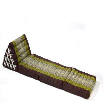 Sage and Brown Jumbo Triangle Lounger and Recliner