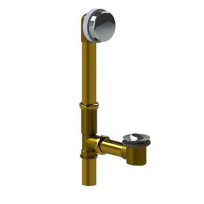 598 Series 24 in. Tubular Brass Bath Waste with PresFlo Bathtub Stopper in Chrome Plated