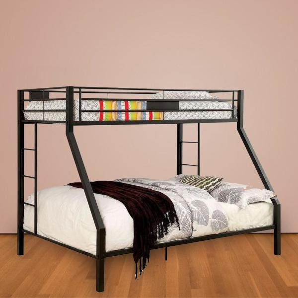 William S Home Furnishing Claren Black Full Queen Size Bunk Bed Cm Bk939fq Bed The Home Depot